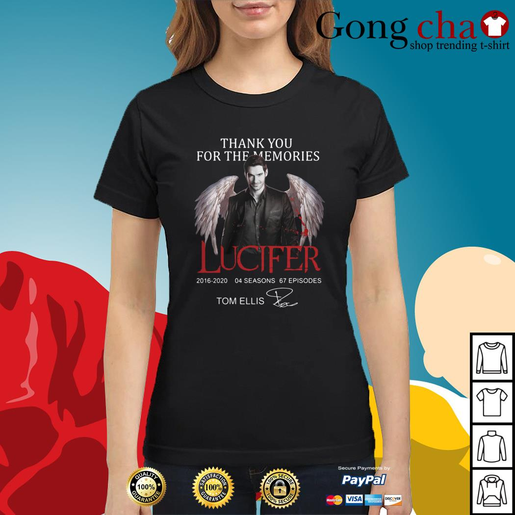 Thank you for the memories Lucifer 2016-2020 04 seasons 67 episodes signature Ladies tee