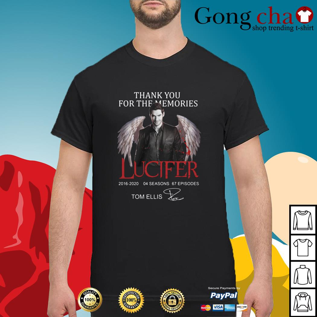 Thank you for the memories Lucifer 2016-2020 04 seasons 67 episodes signature shirt