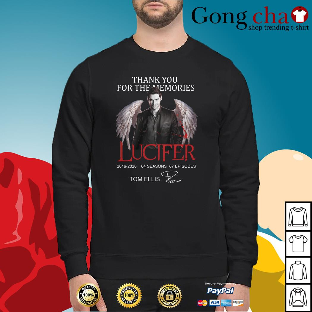 Thank you for the memories Lucifer 2016-2020 04 seasons 67 episodes signature Sweater