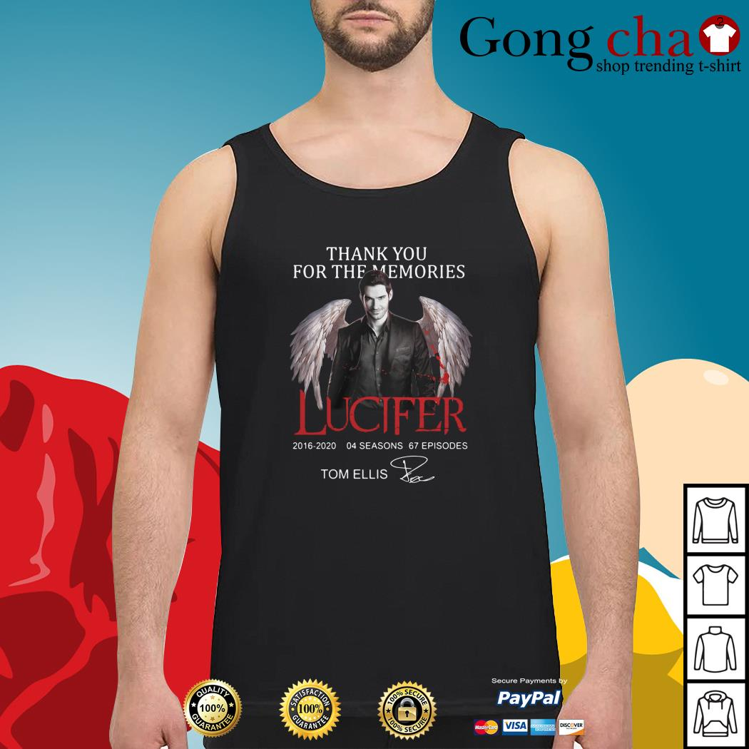 Thank you for the memories Lucifer 2016-2020 04 seasons 67 episodes signature Tank top