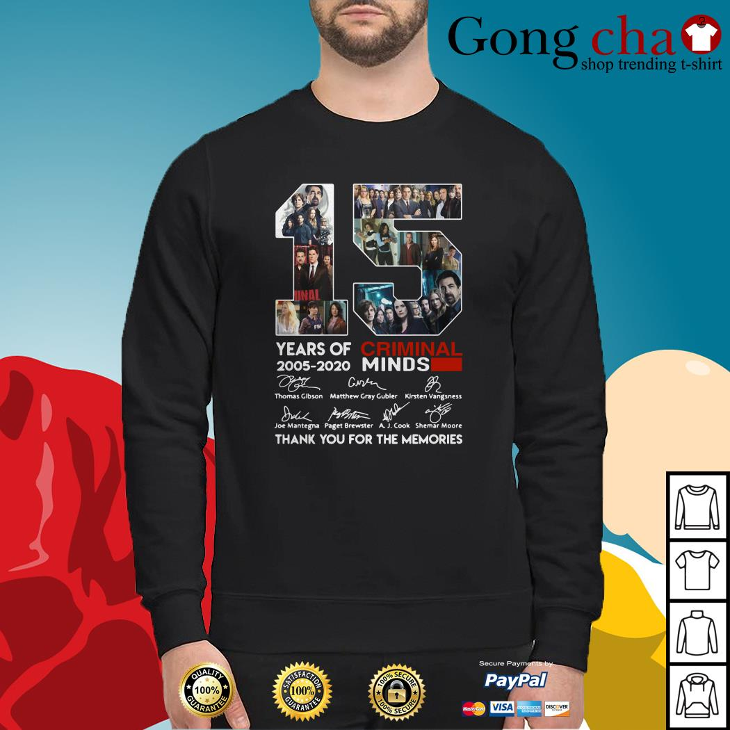 15 years of Criminal Minds 2005-2020 thank you for the memories Sweater