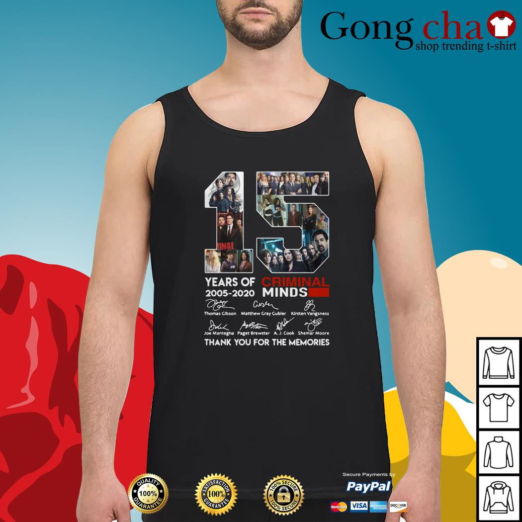15 years of Criminal Minds 2005-2020 thank you for the memories Tank top