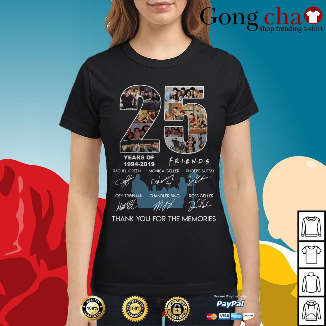25 years of Friends 1994-2019 thank you for the memories Ladies tee