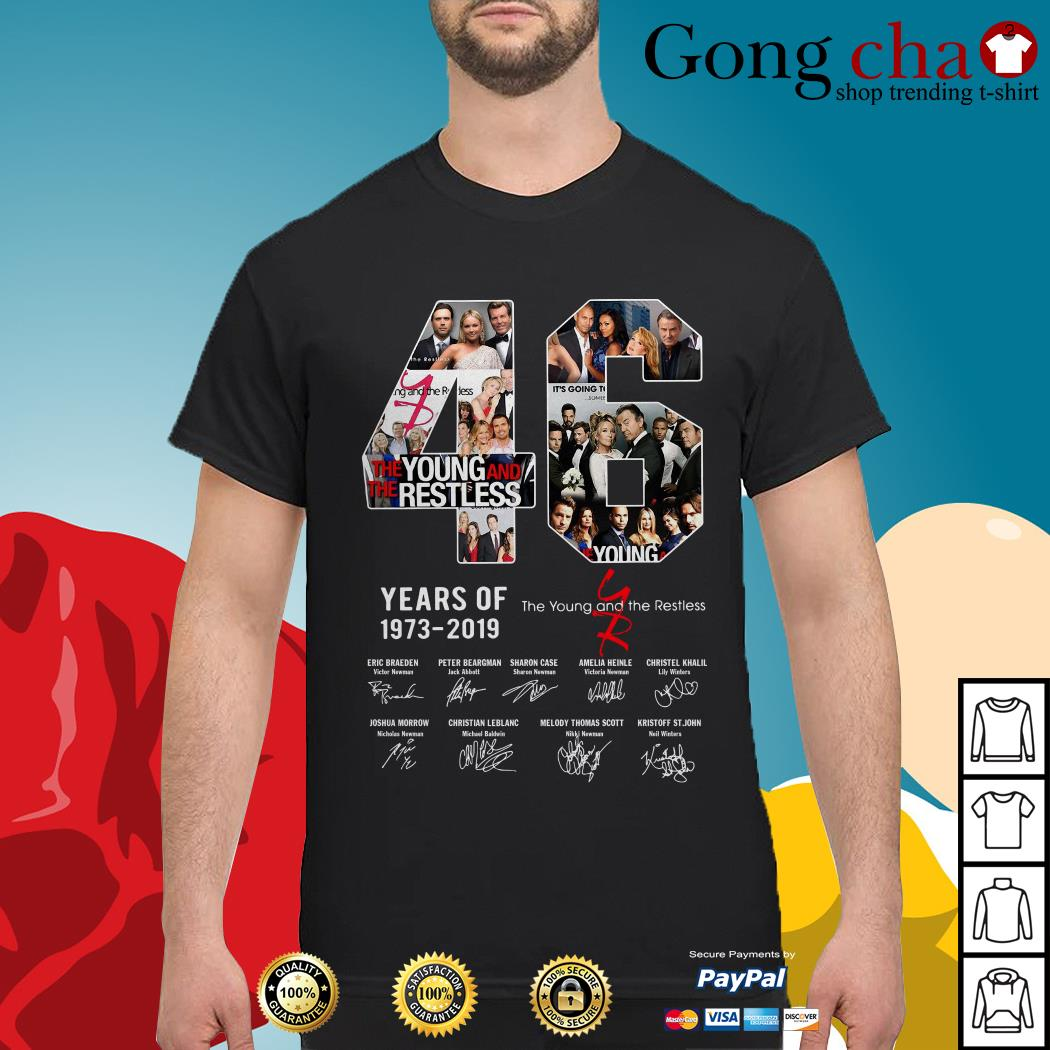 46 years of The Young and the restless 1973-2019 signature shirt