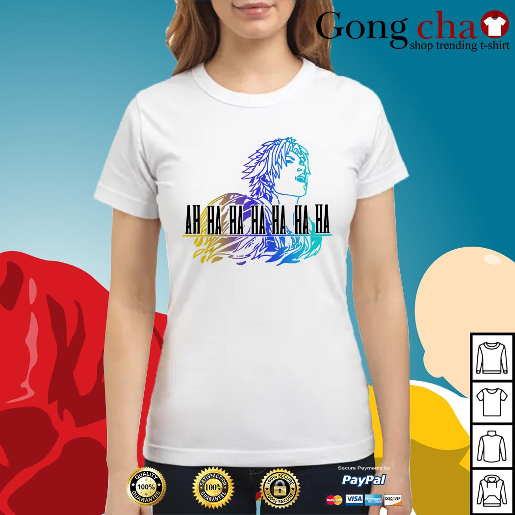 Final Fantasy Tidus ah ha ha ha Ladies tee