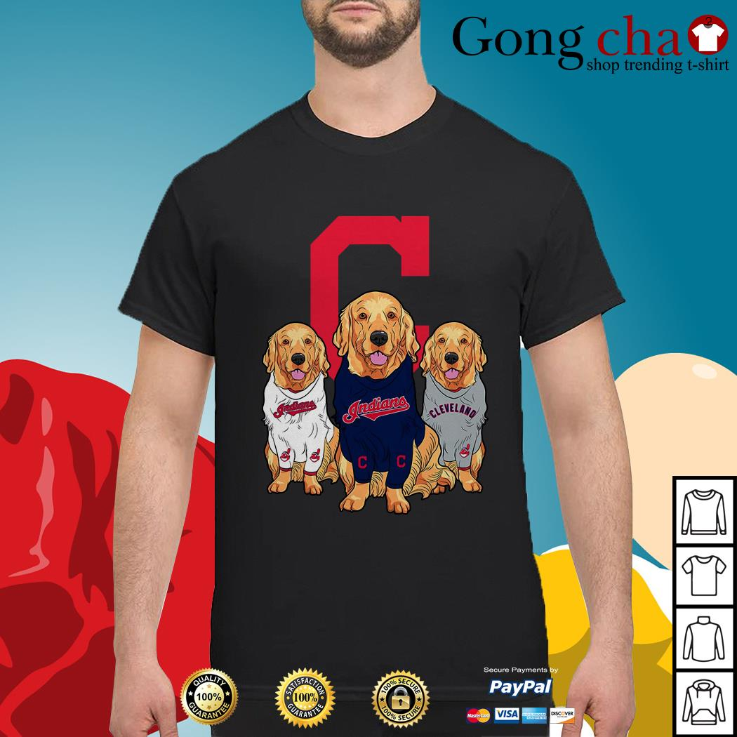 Golden Retriever Cleveland Indians shirt