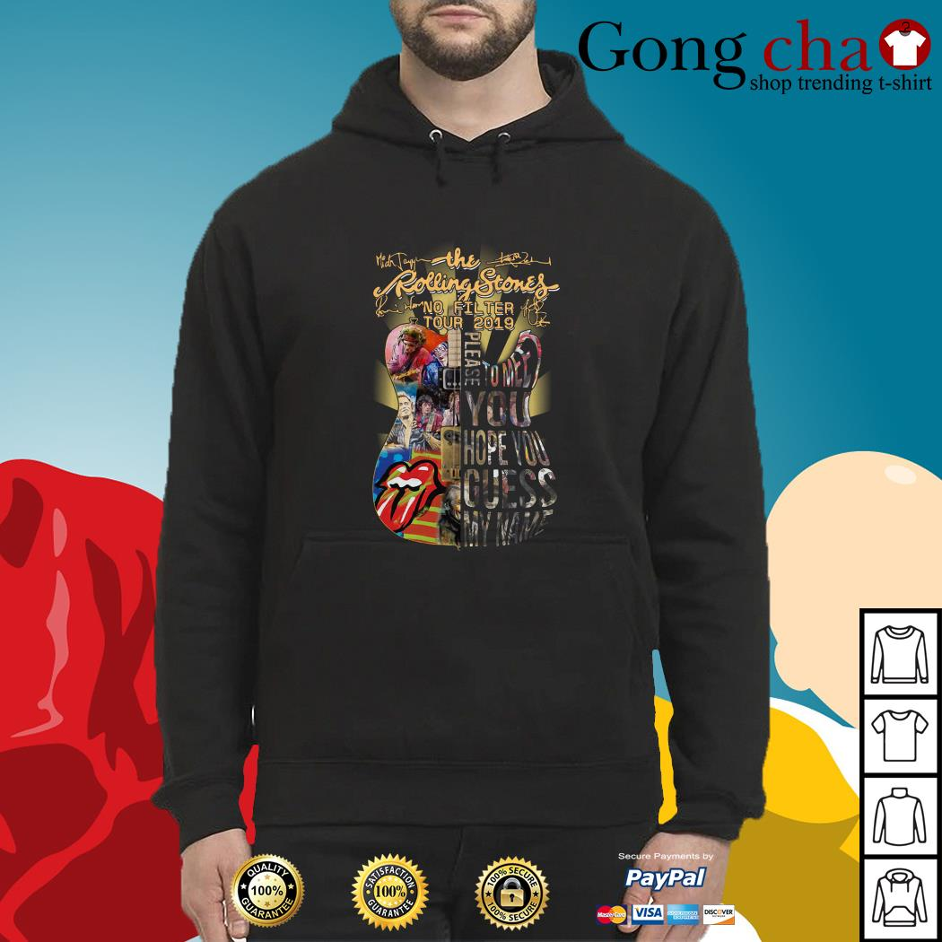 Guitar The Rolling Stones no filter tour 2019 signatures Hoodie