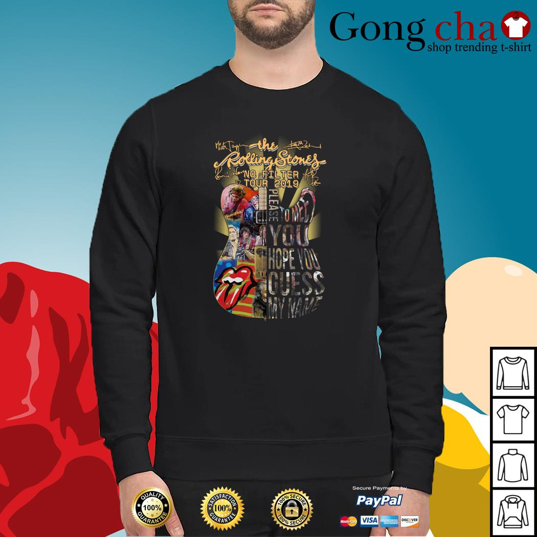 Guitar The Rolling Stones no filter tour 2019 signatures Sweater