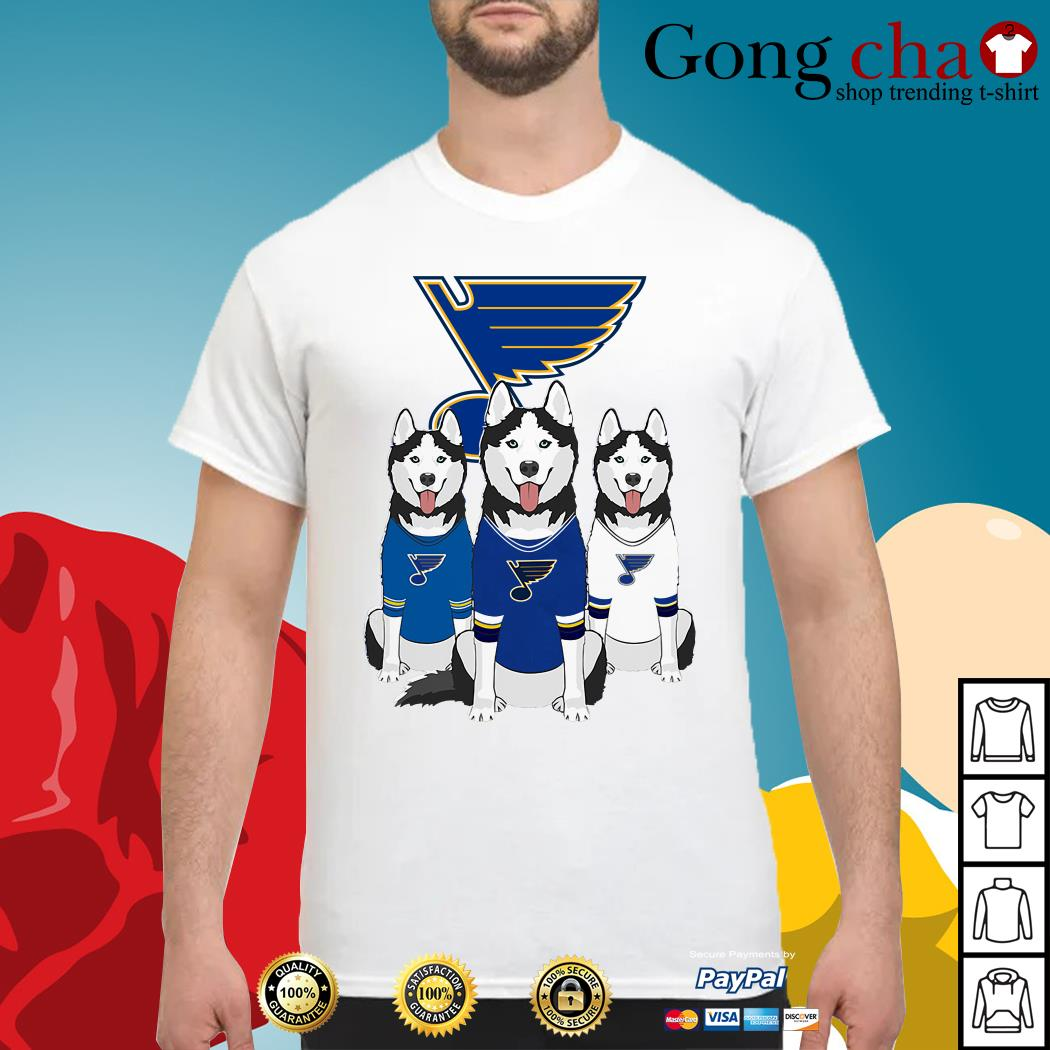 Husky dog St. Louis Blues shirt