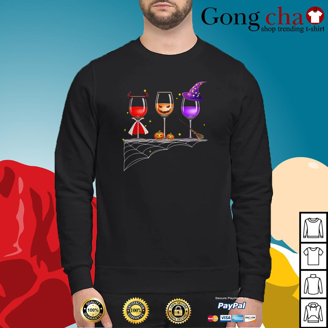 Official Halloween glasses of wine Sweater