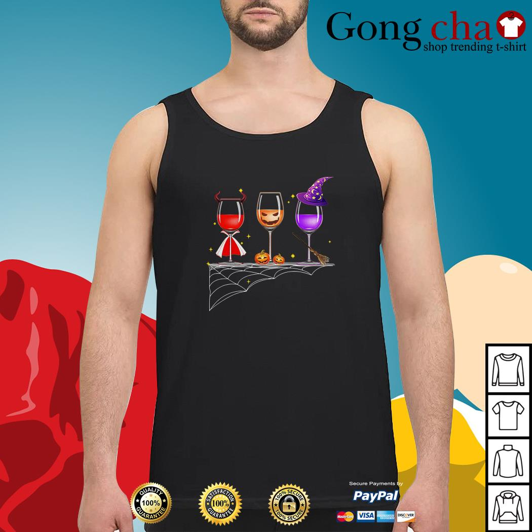 Official Halloween glasses of wine Tank top