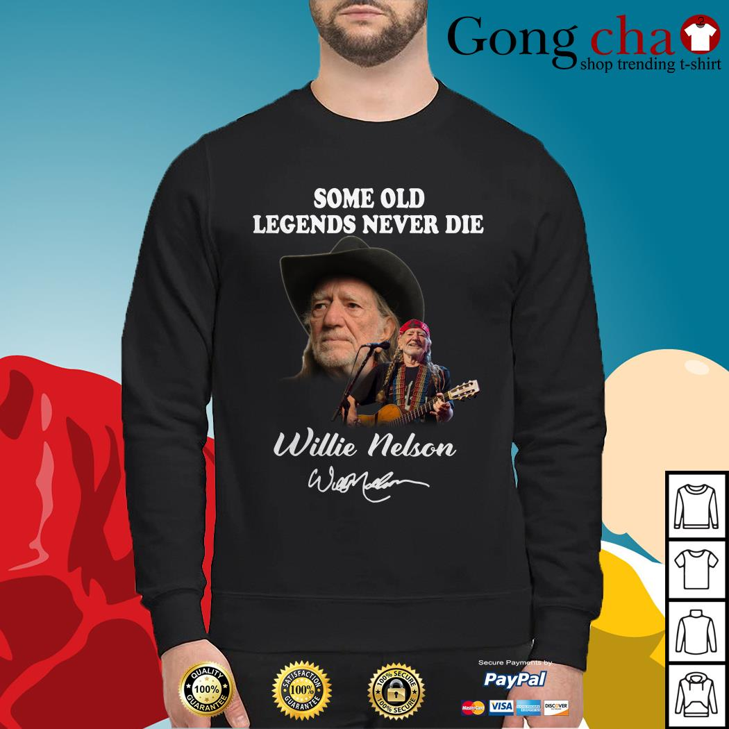 Some old legends never die Willie Nelson signature Sweater