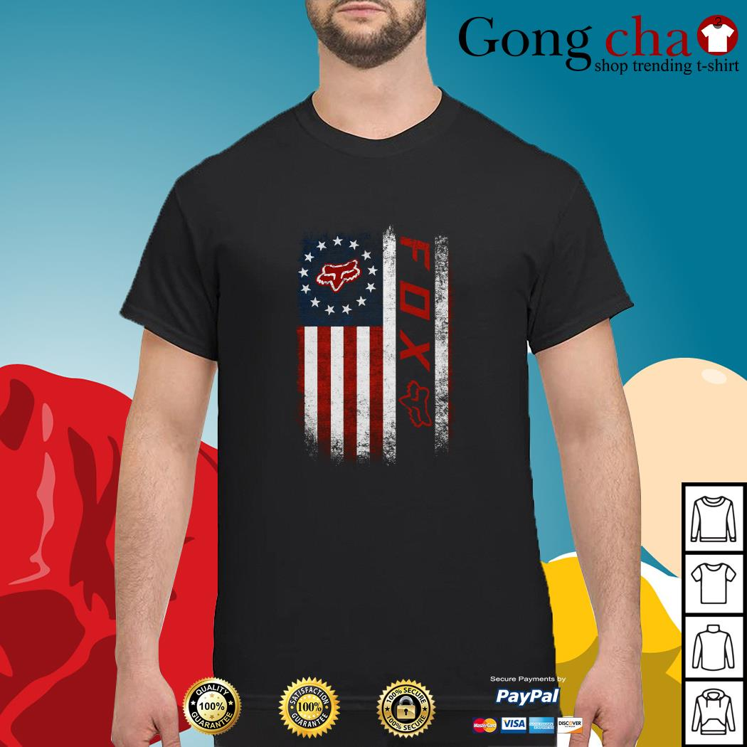 Veteran American flag Fox Racing shirt
