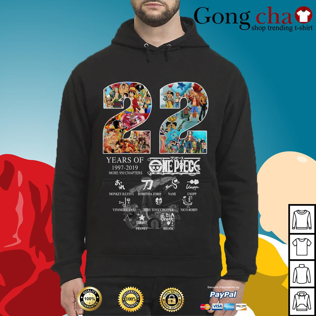 22 Years of One Piece 1997-2019 more 950 chapters signature Hoodie