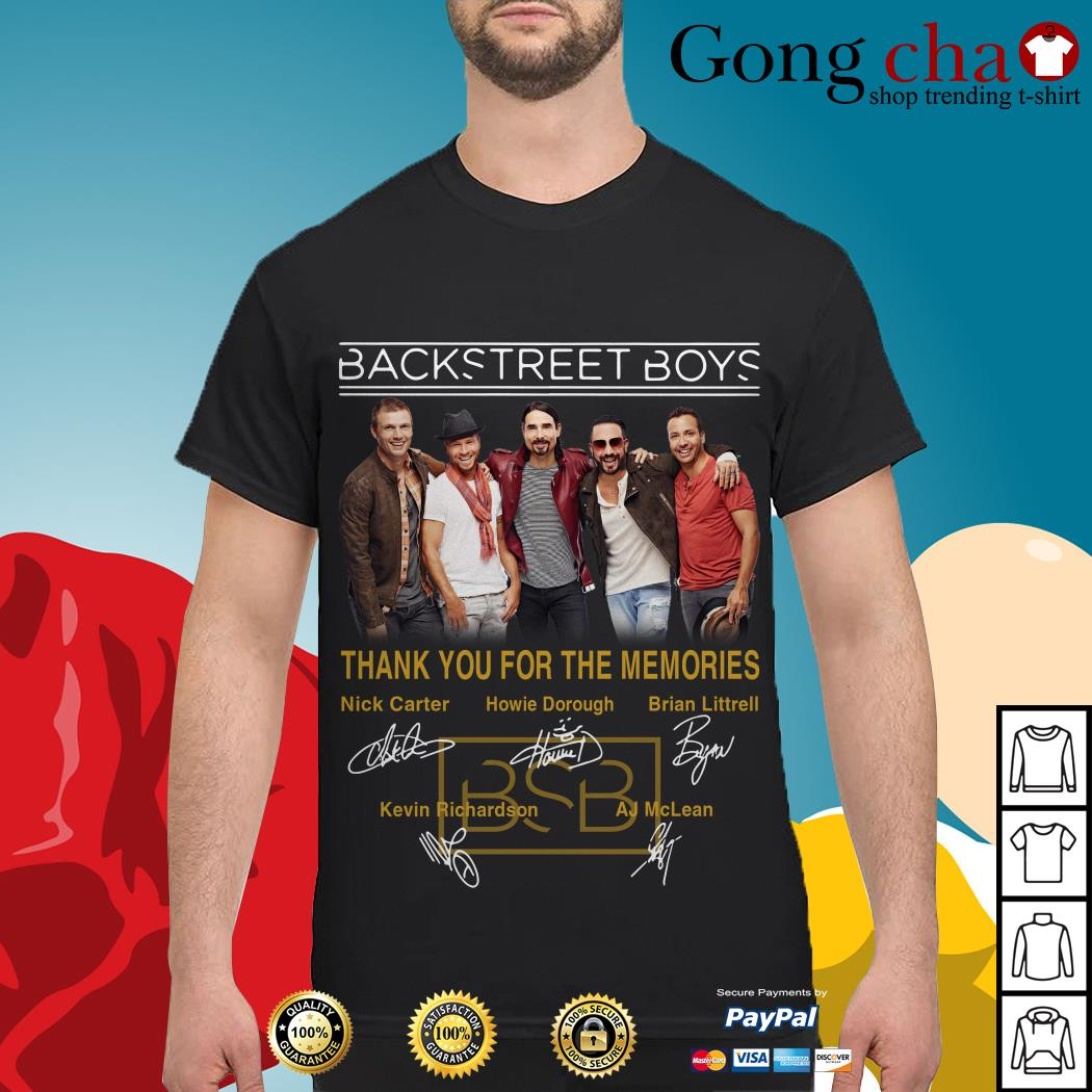 Backstreet Boys thank you for the memories signatures shirt