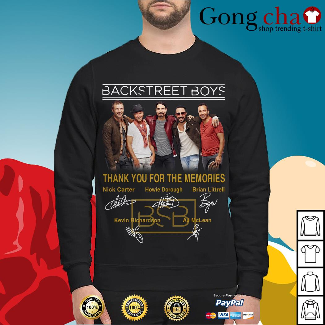 Backstreet Boys thank you for the memories signatures Sweater