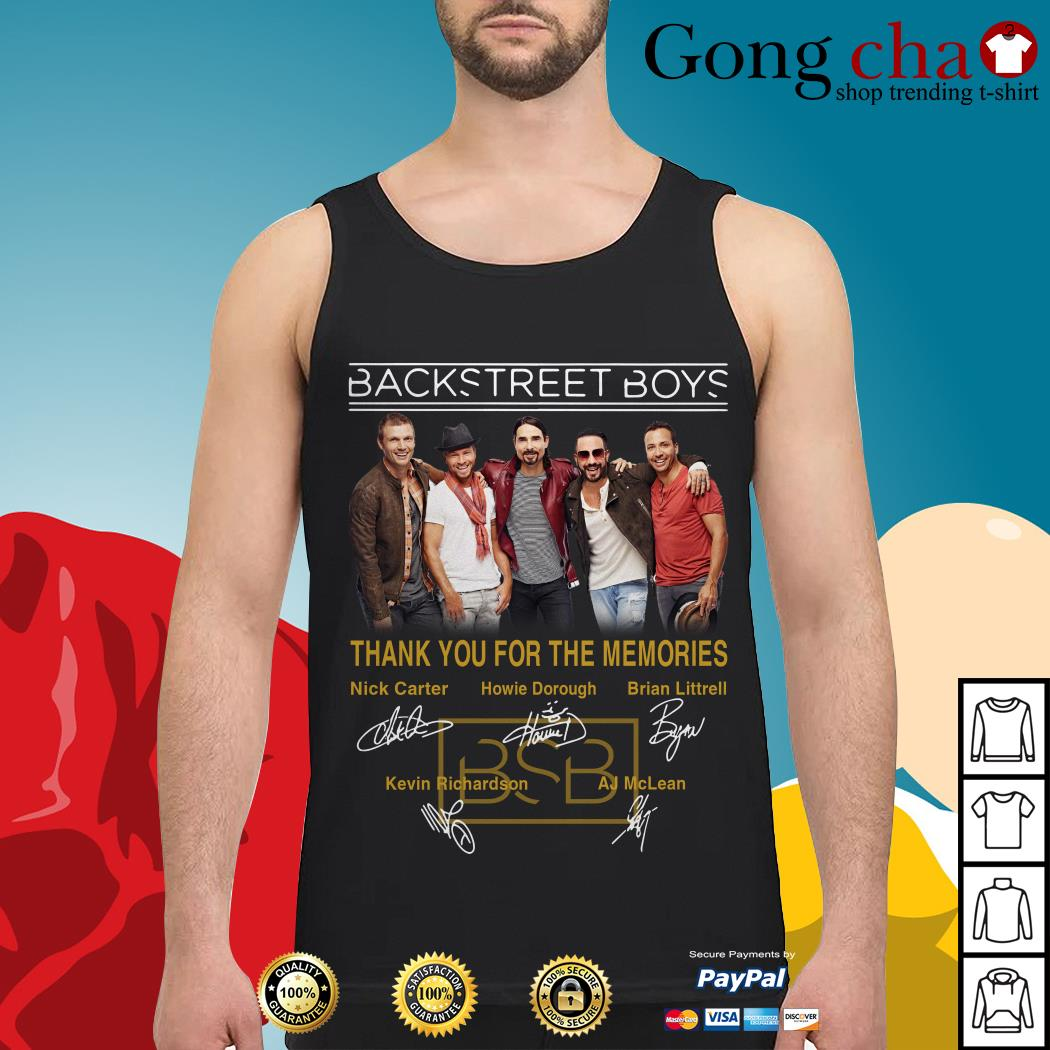 Backstreet Boys thank you for the memories signatures Tank top