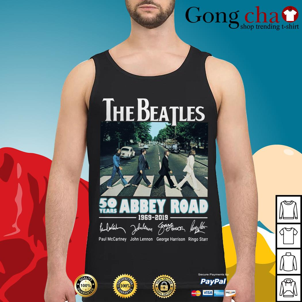 The Beatles 50 years Abbey Road 1969-2019 signature Tank top