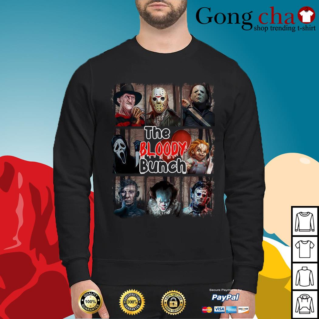 The Bloody Bunch horror movies characters Halloween Sweater