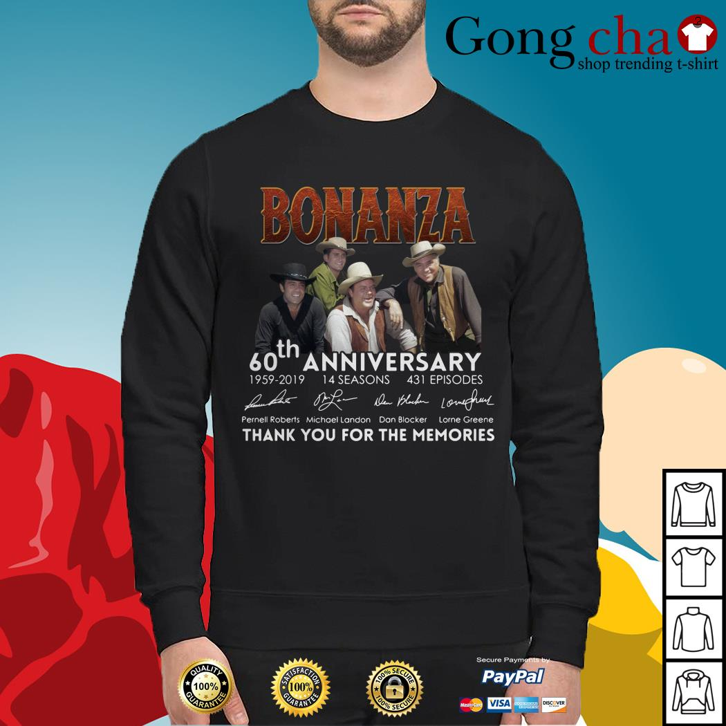Bonanza 60th anniversary thank you for the memories Sweater