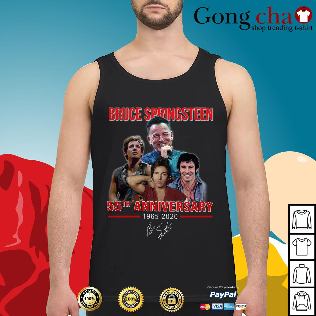 Bruce Springsteen 55th anniversary 1965-2020 signature Tank top