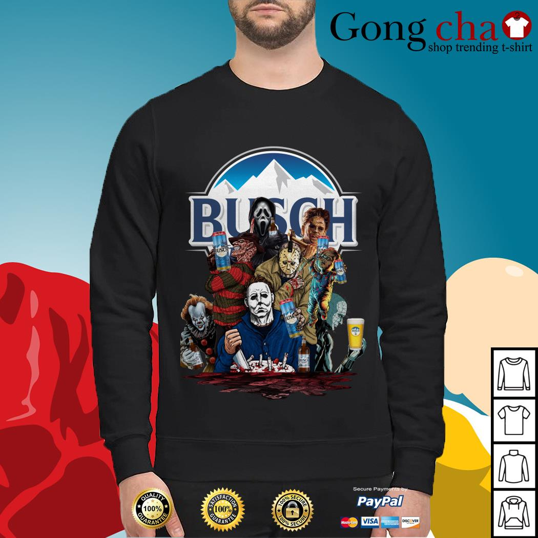 Busch Light horror characters movies Sweater