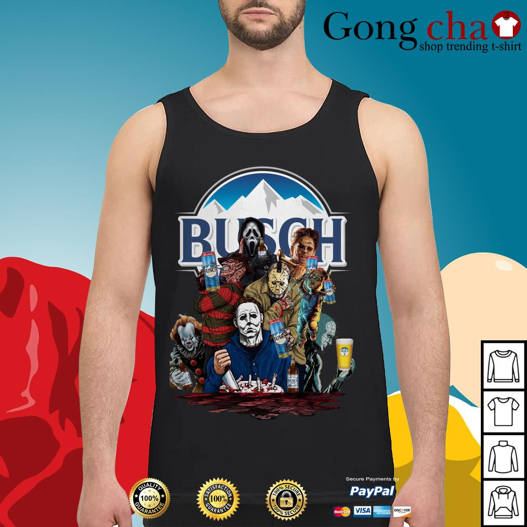 Busch Light horror characters movies Tank top