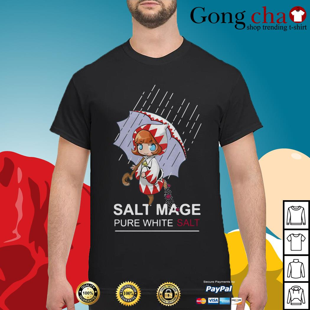 Chibi salt mage pure white salt shirt