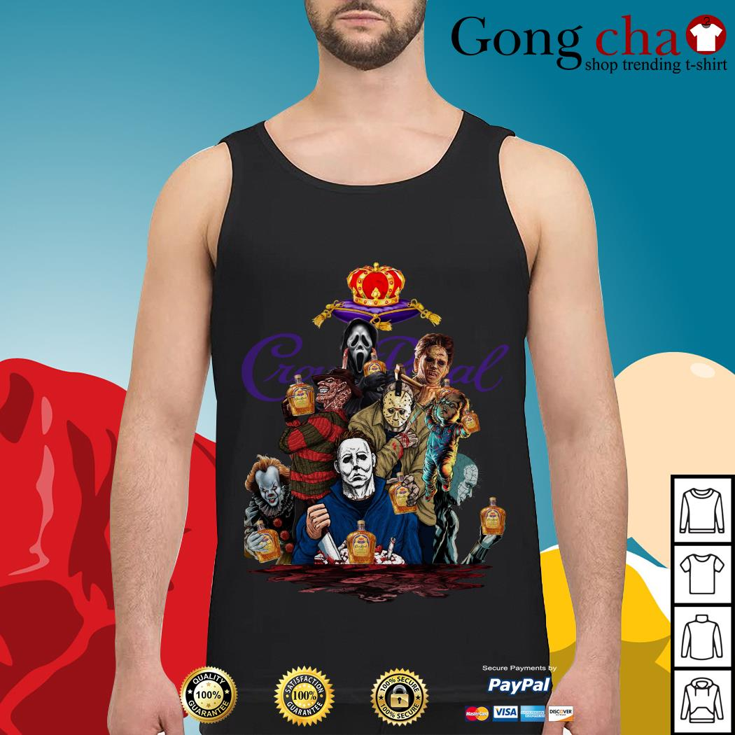 Crown Royal horror characters movies Tank top