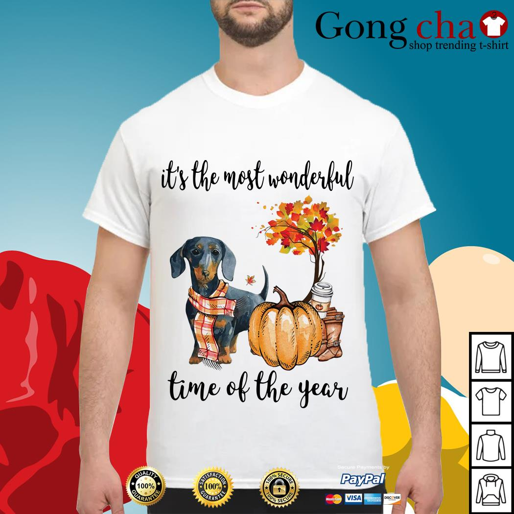 Dachshund it's the most wonderful time of the year shirt
