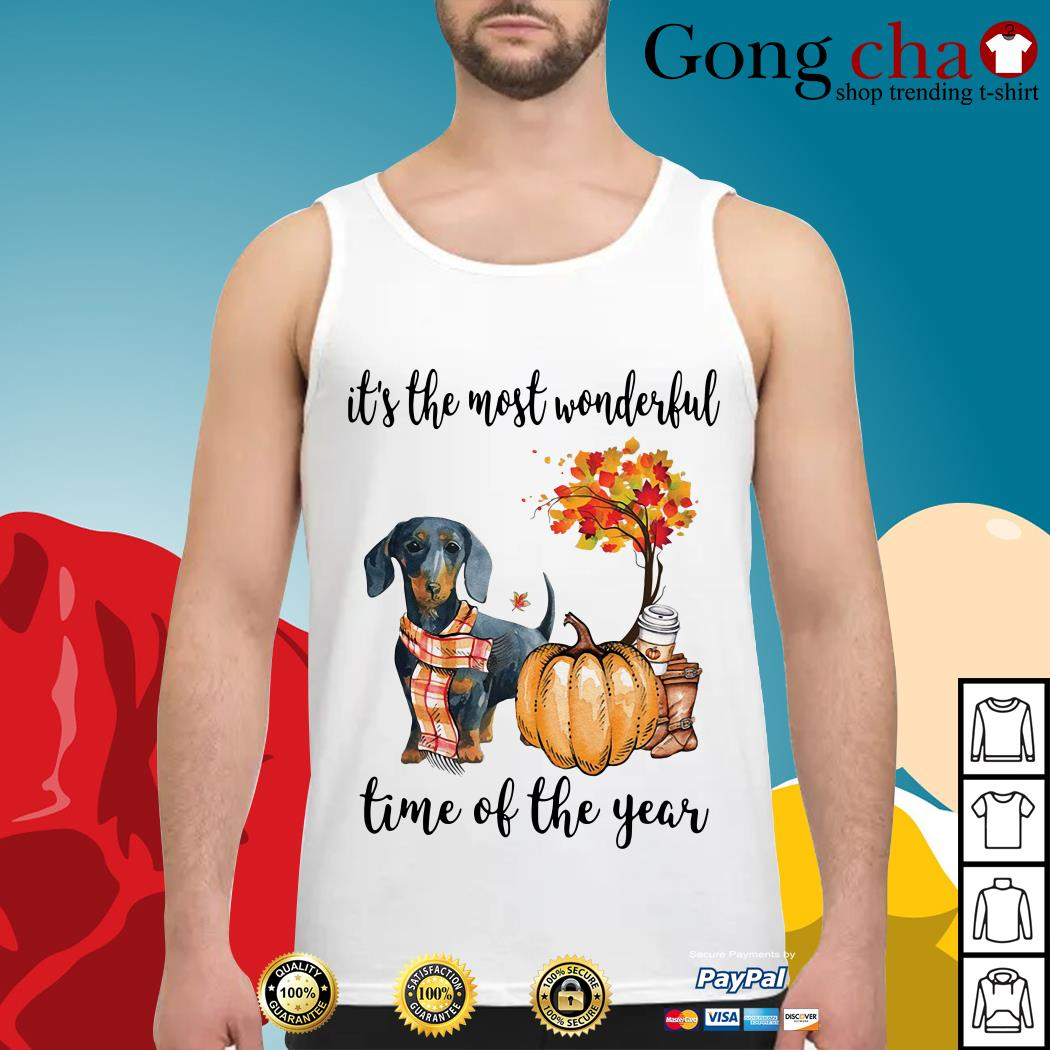 Dachshund it's the most wonderful time of the year Tank top