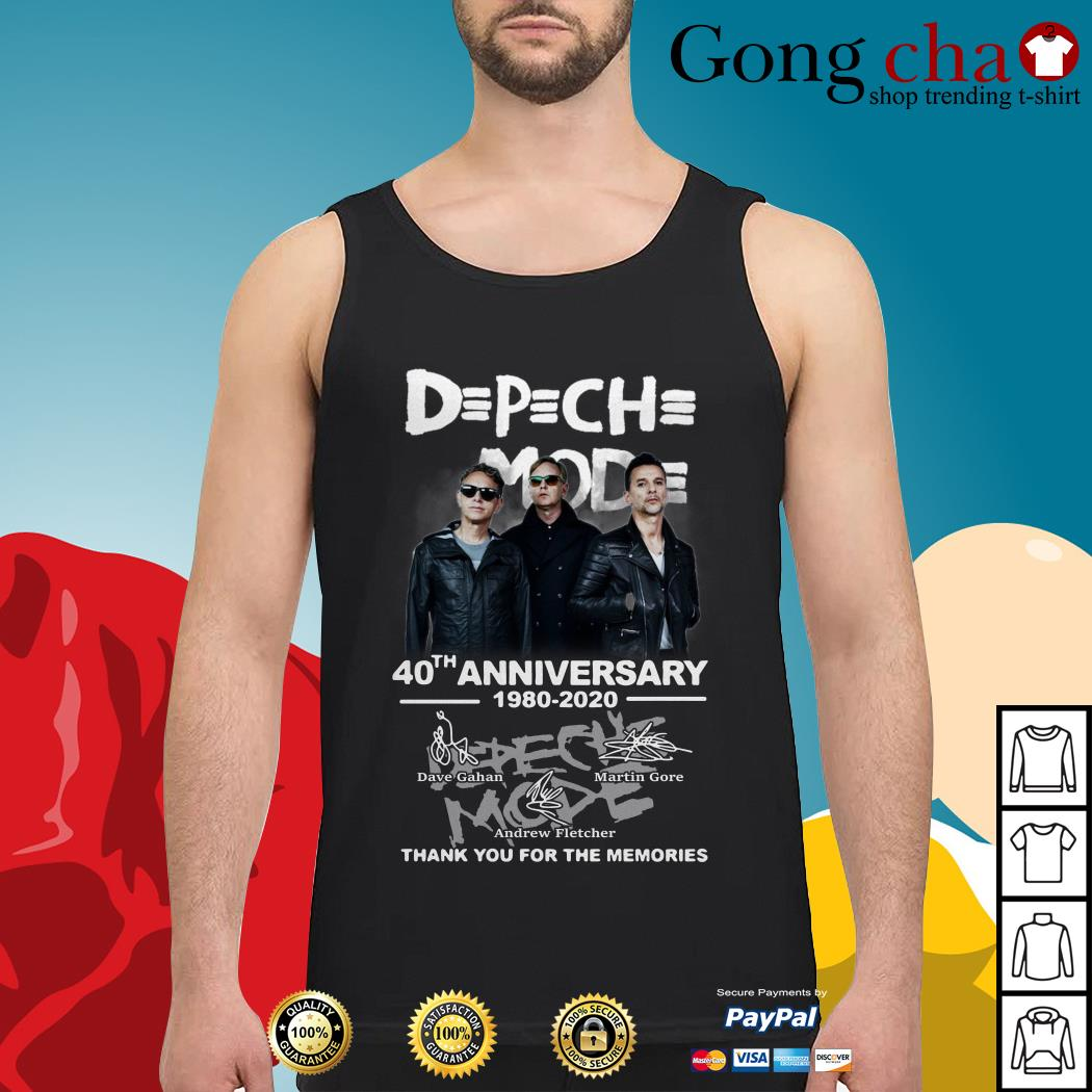 Depeche Mode 40th anniversary 1980-2020 thank you for the memories Tank top