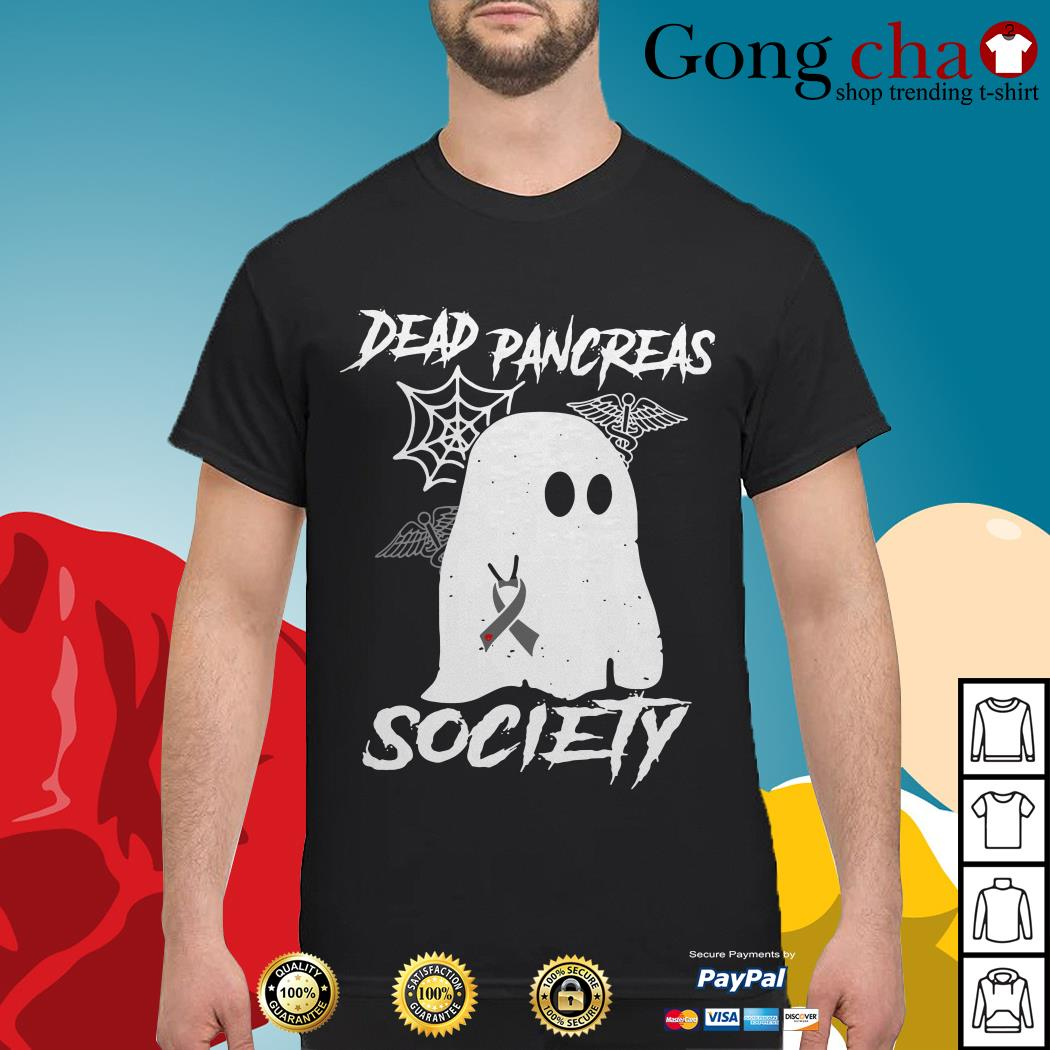 Ghost Breast Cancer dead pancreas society shirt