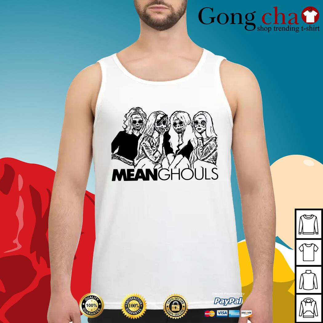 Halloween Mean Ghouls horror movie characters Tank top