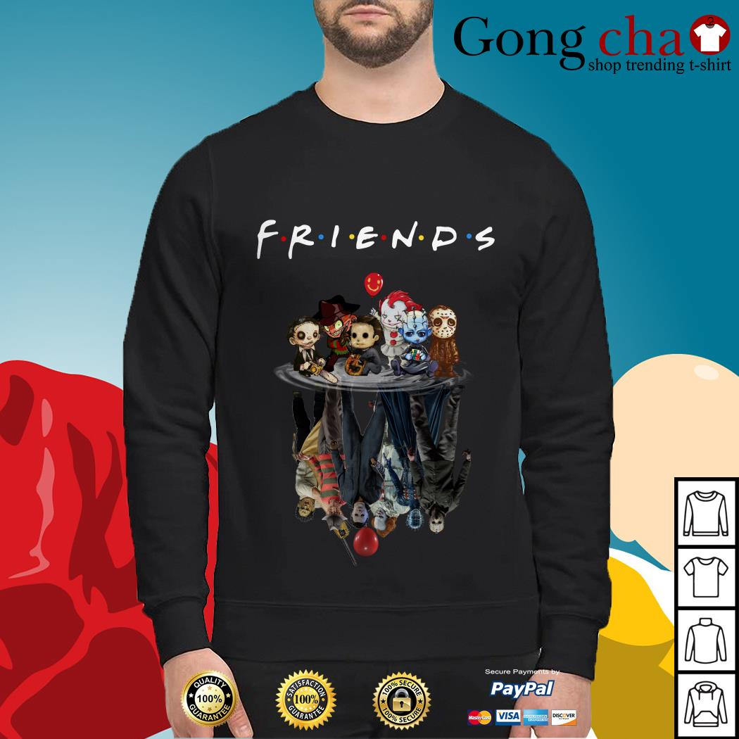 Horror characters movie water mirror reflection Friends Sweater