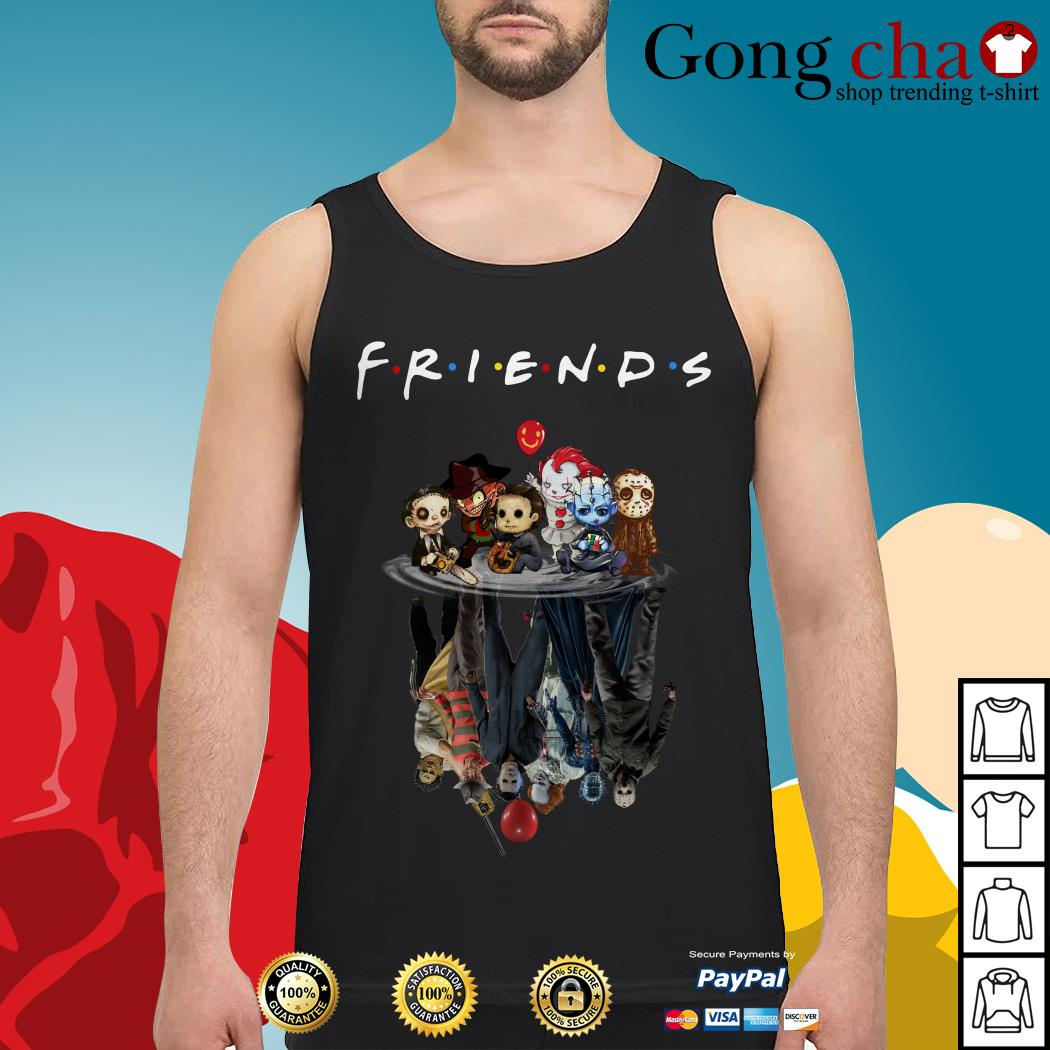 Horror characters movie water mirror reflection Friends Tank top
