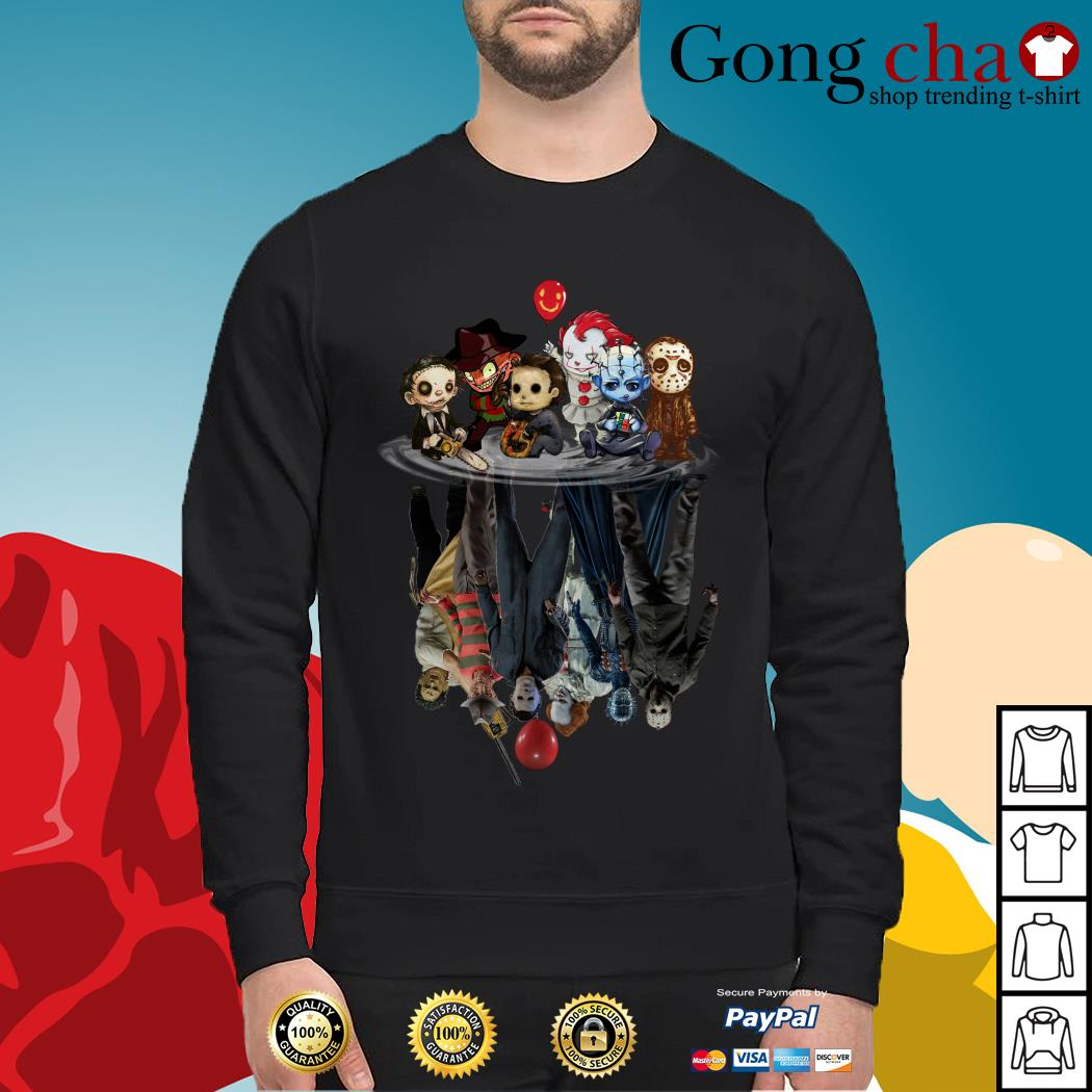 Horror characters movies water mirror reflection Sweater