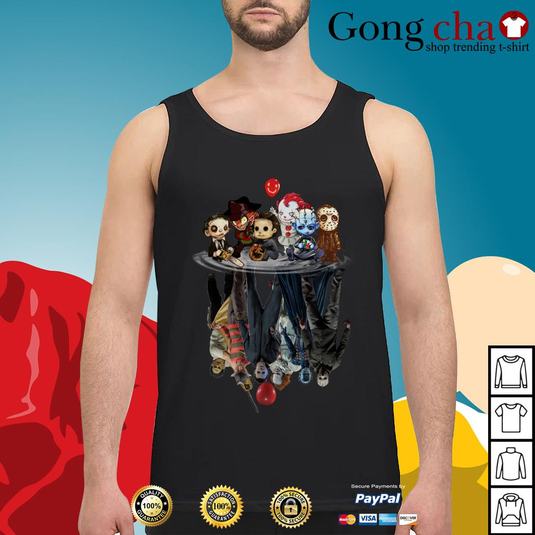 Horror characters movies water mirror reflection Tank top