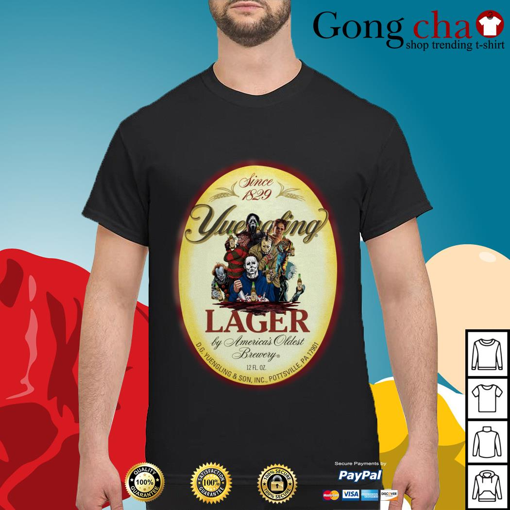 Horror Characters since 1829 Yuengling Lager by America's oldest brewery shirt