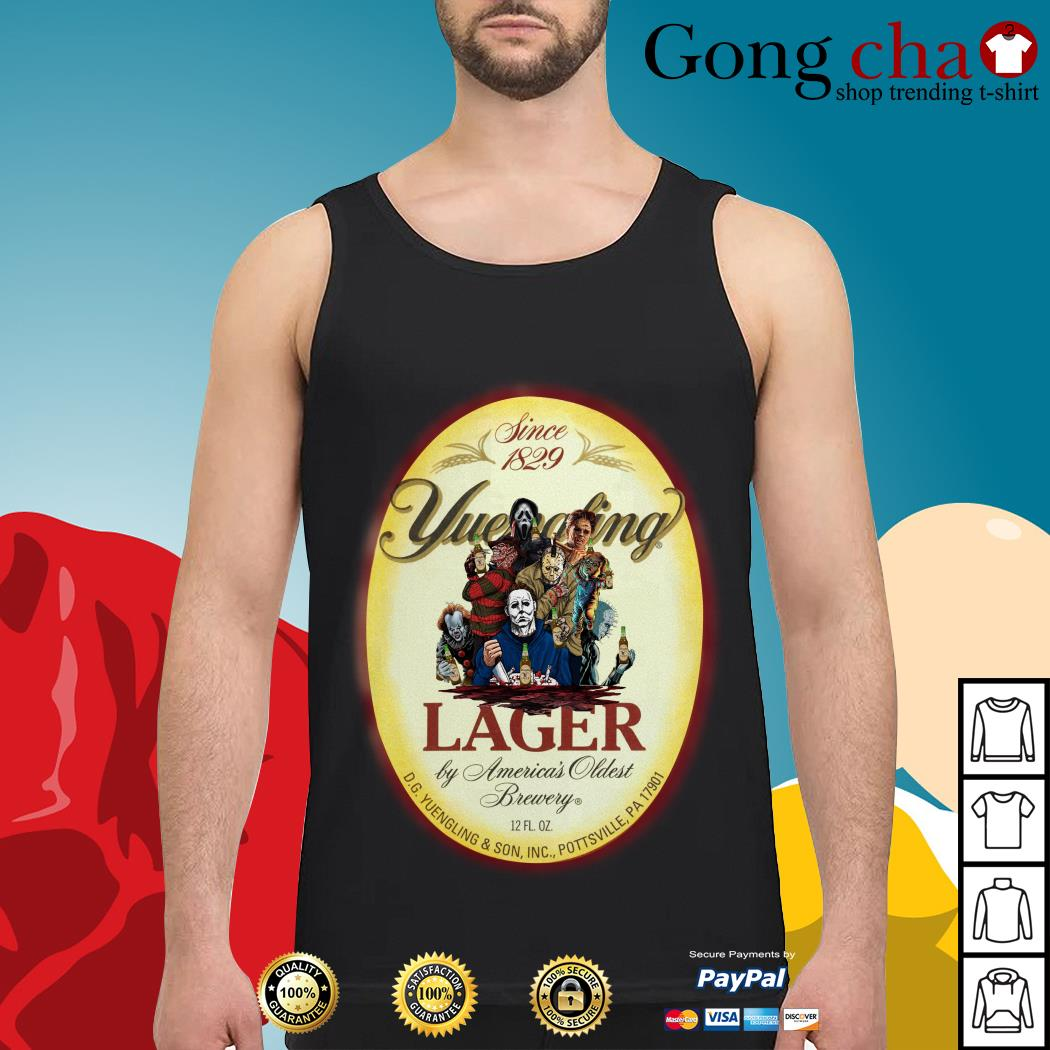 Horror Characters since 1829 Yuengling Lager by America's oldest brewery Tank top
