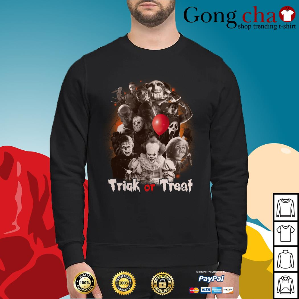 Horror characters trick or treat Sweater