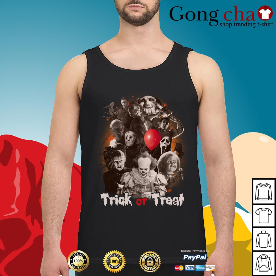 Horror characters trick or treat Tank top