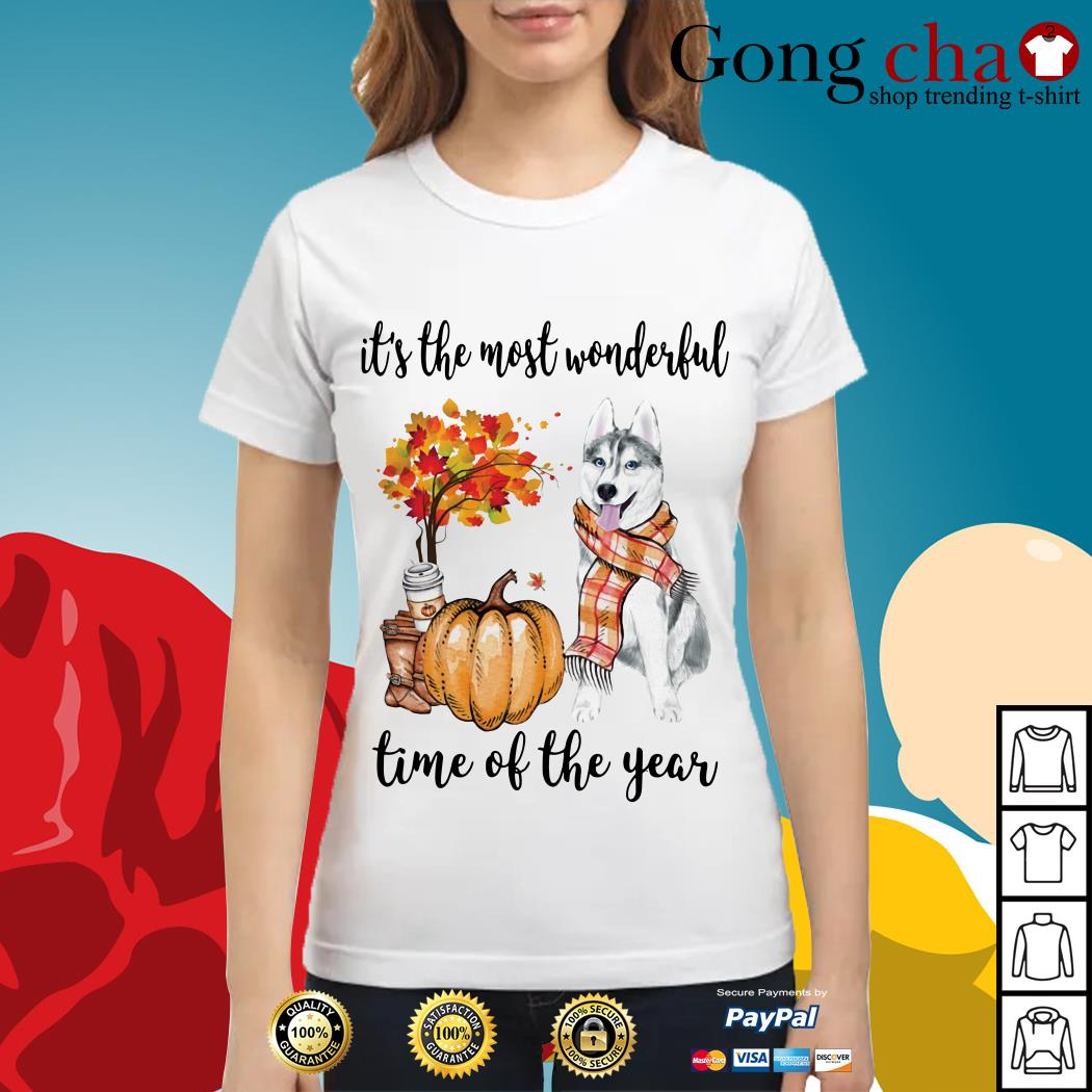 Husky it's the most wonderful time of the year Ladies tee