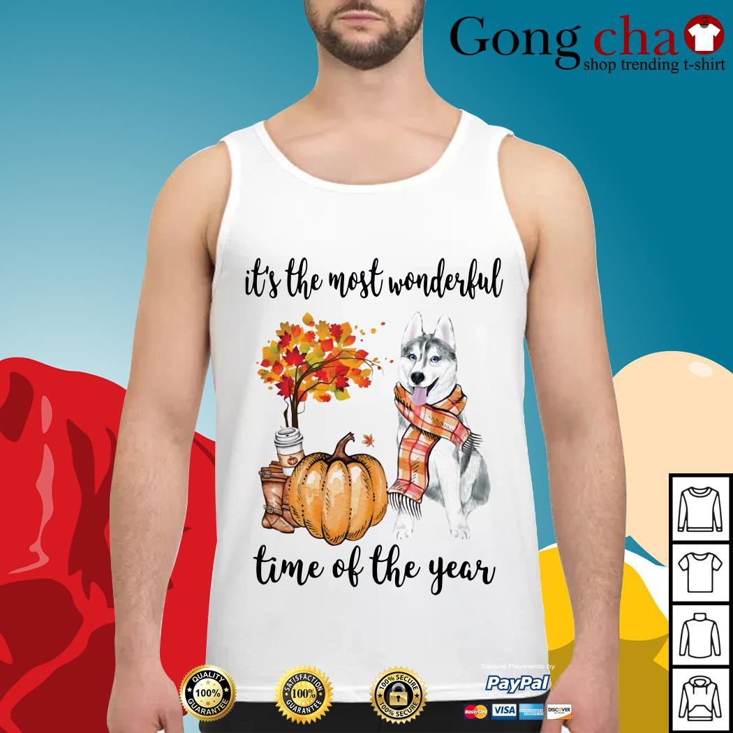 Husky it's the most wonderful time of the year Tank top