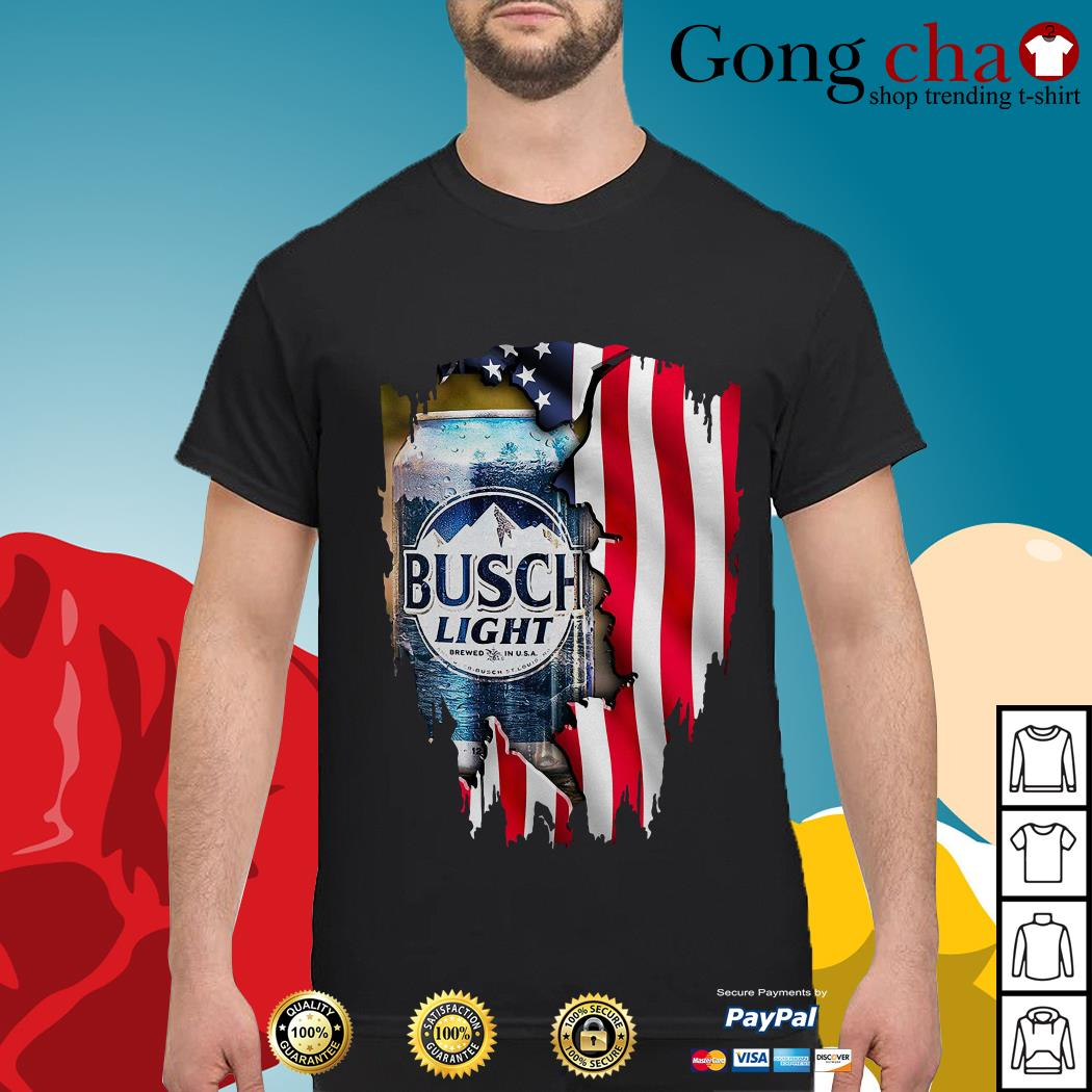 Independence Day 4th of July Busch Light America flag shirt