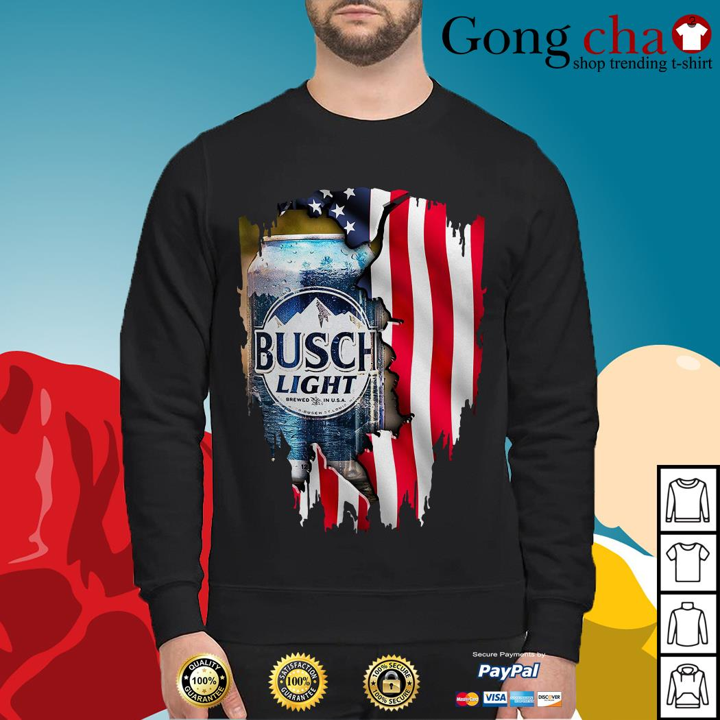 Independence Day 4th of July Busch Light America flag Sweater