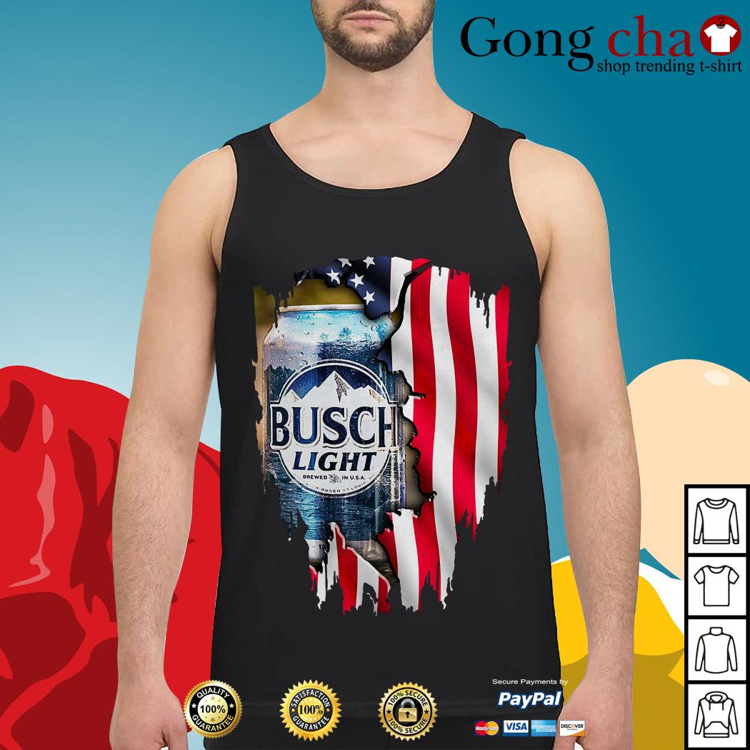Independence Day 4th of July Busch Light America flag Tank top