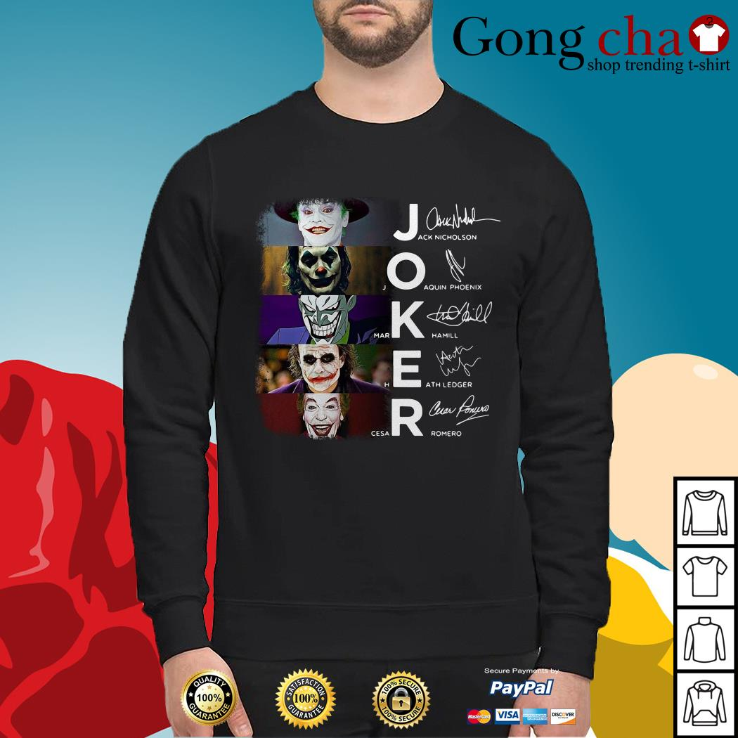Joker Jack Nicholson Joaquin Phoenix Mark Hamill Heath Ledger Cesar Romero Sweater