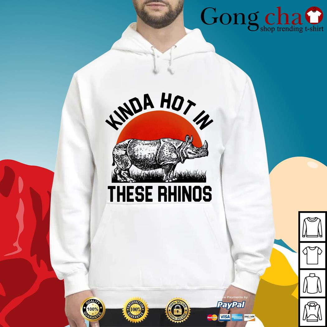 Kinda hot in these rhinos Hoodie