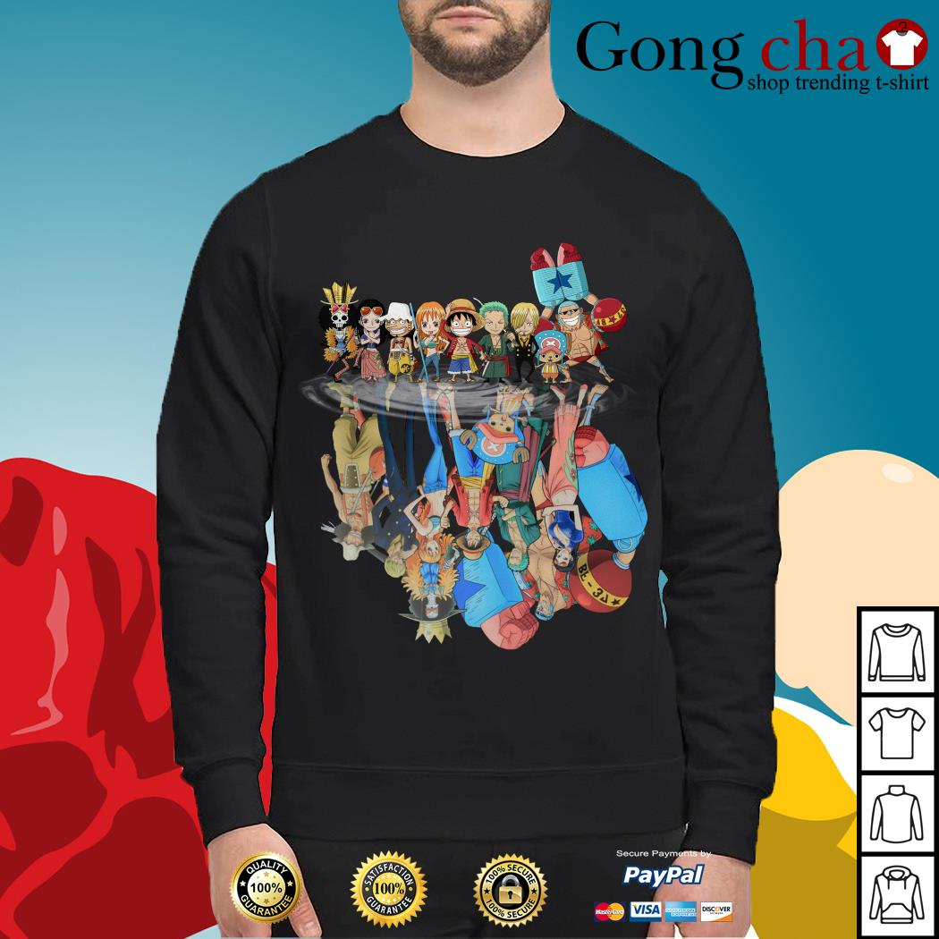 One Piece water reflection mirror Sweater